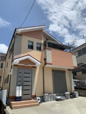 大阪府堺市南区G様邸 屋根 外壁塗装及び防水工事-施工後