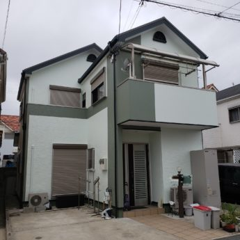 大阪府大阪狭山市K様邸 屋根 外壁塗装及び防水工事-施工後