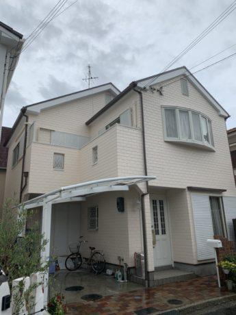 大阪府堺市東区I様邸 屋根 外壁塗装及び防水工事-施工後