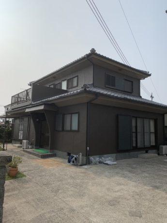 和歌山県和歌山市S様邸 屋根漆喰 外壁塗装工事及び防水工事-施工後