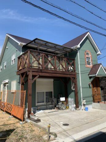 大阪府堺市堺区S様邸 屋根 外壁塗装及び付帯塗装工事-施工後