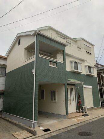 大阪府堺市美原区Y様邸 屋根 外壁塗装工事及び防水工事-施工後