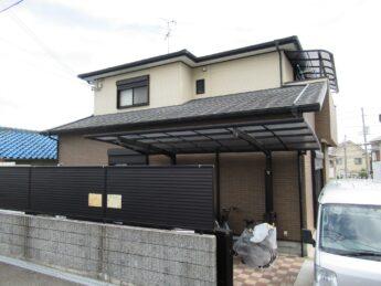 大阪府堺市西区M様邸 屋根 外壁塗装工事及び防水工事-施工前