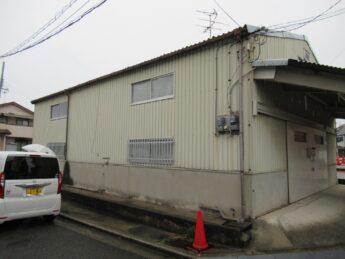 大阪府堺市中区S倉庫様 外壁塗装及び屋根葺き替え工事-施工前