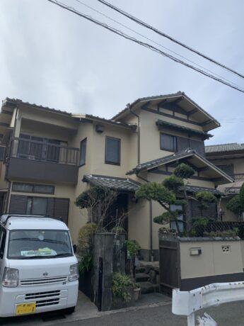 大阪府和泉市O様邸 外壁塗装及び防水工事、屋根漆喰工事-施工後