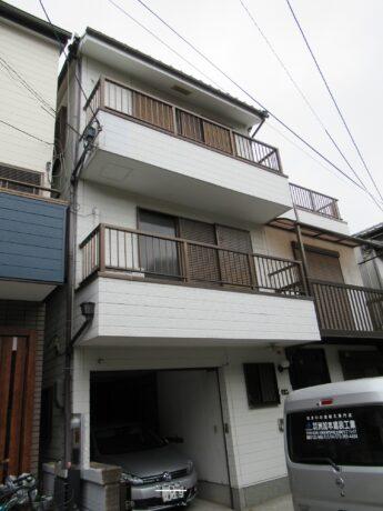 大阪府堺市北区N様邸 屋根漆喰工事、外壁塗装工事及び防水工事-施工前
