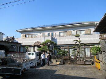 大阪府堺市東区M様邸 外壁塗装工事、防水工事及びタイル工事-施工前