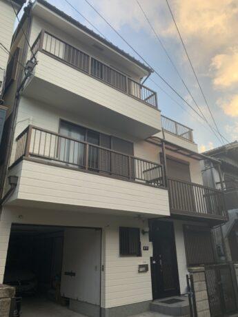 大阪府堺市北区N様邸 屋根漆喰工事、外壁塗装工事及び防水工事-施工後