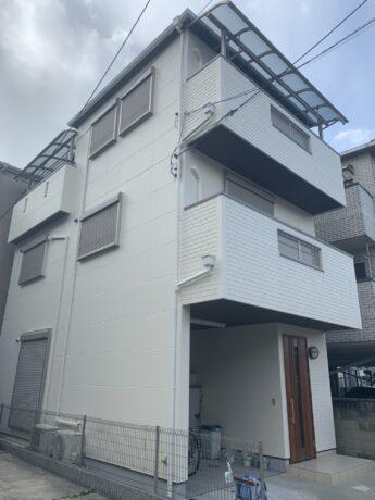 大阪府堺市北区K様邸 屋根 外壁塗装工事及び防水工事-施工後
