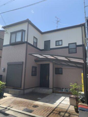 大阪府堺市東区M様邸 屋根 外壁塗装工事及び防水工事-施工後