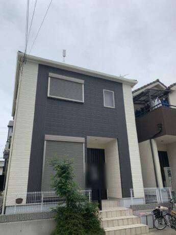 大阪府堺市中区H様邸 外壁塗装工事及び防水工事-施工後
