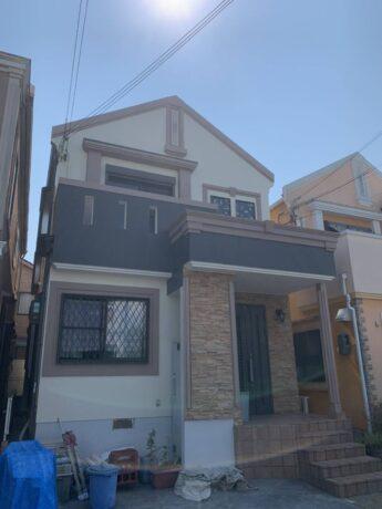 大阪府堺市中区K様邸 屋根 外壁塗装工事及び防水工事-施工後