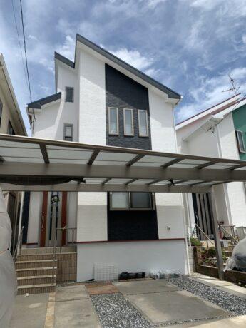 大阪府岸和田市Y様邸 屋根 外壁塗装工事及び防水工事-施工後