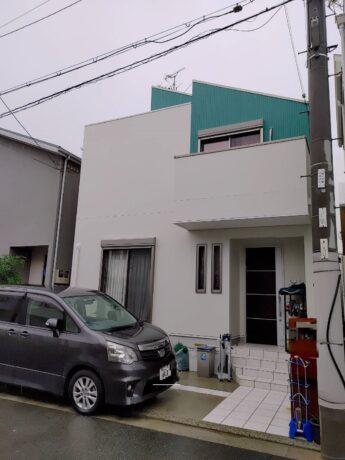 大阪府松原市Y様邸 屋根 外壁塗装工事及び防水工事🏠-施工後