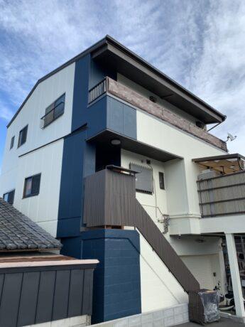 大阪府岸和田市O様邸 屋根 外壁塗装工事及び防水工事🏠-施工後